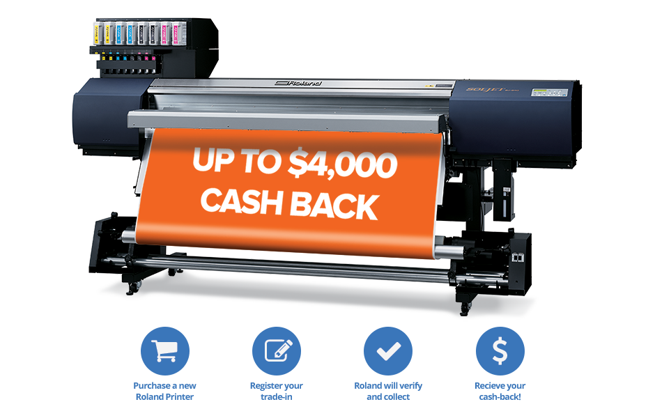 Launched In Late April The Trade Program Provides Opportunity To Upgrade Latest Roland Wide Format Print Technology And Receive Up 4000