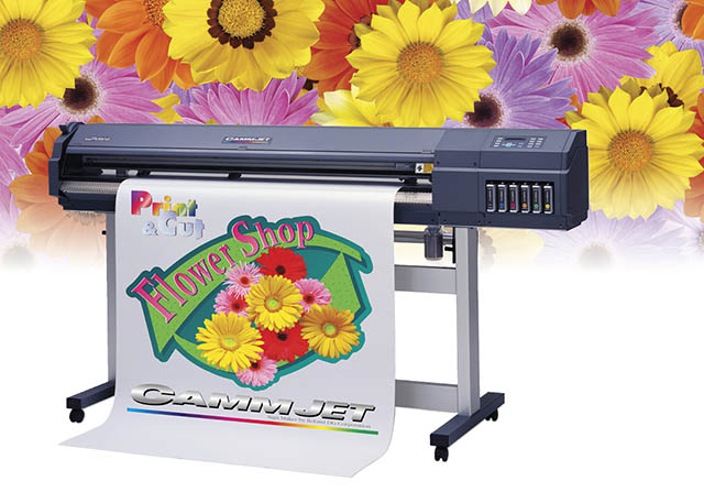 1999 The CJ-500 is the world's first 6-color wide-format inkjet printer/cutter.