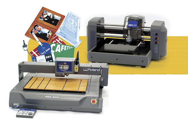 2002 The EGX-400/600 and EGX-20 continue Roland's success in desktop and benchtop engraving.