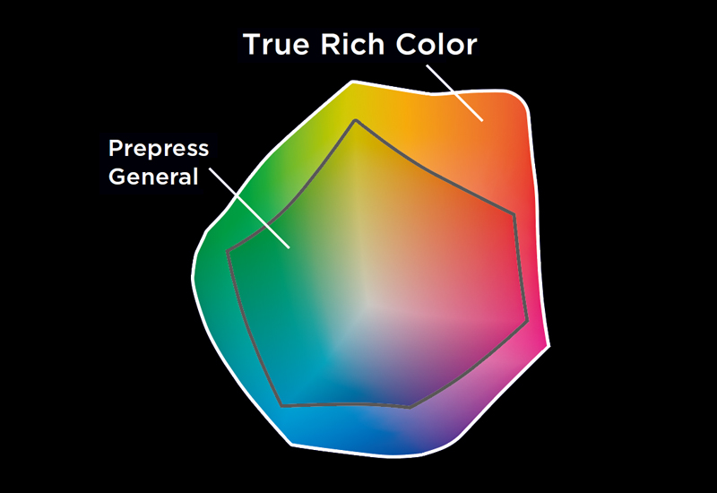 True Rich Color -  Gamut chart